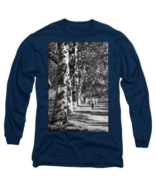 Long Sleeve T-Shirt featuring the photograph Hyde Park Trees by Maj Seda