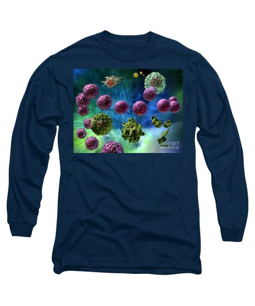 Long Sleeve T-Shirt featuring the digital art Immune Response Cytotoxic 1 by Russell Kightley