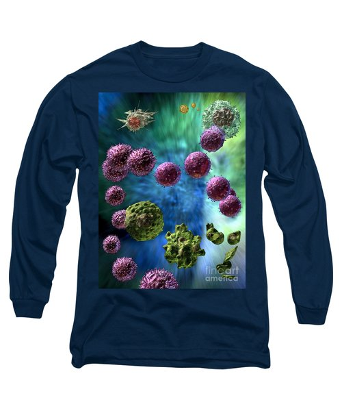 Long Sleeve T-Shirt featuring the digital art Immune Response Cytotoxic 3 by Russell Kightley