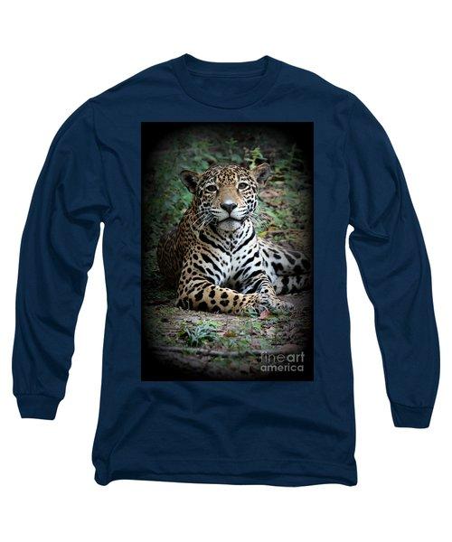 Long Sleeve T-Shirt featuring the photograph Jaguar Portrait by Kathy  White