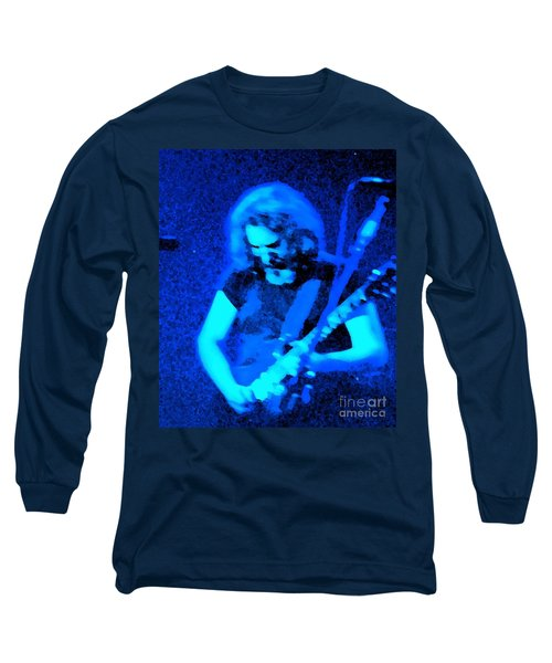 Long Sleeve T-Shirt featuring the photograph The Man In Blue by Susan Carella