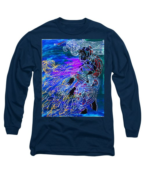 Long Sleeve T-Shirt featuring the painting Jesus Reaps His Harvest by Gloria Ssali