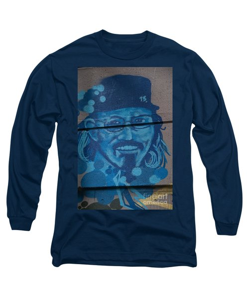 Long Sleeve T-Shirt featuring the digital art Johnny On The Wall by Carol Ailles