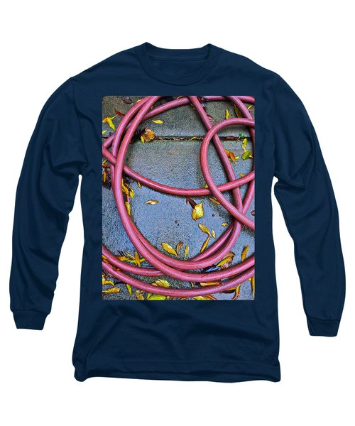 Leaves And Hose Long Sleeve T-Shirt by Bill Owen