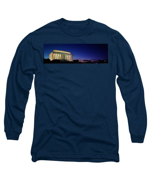 Lincoln Memorial At Sunset Long Sleeve T-Shirt