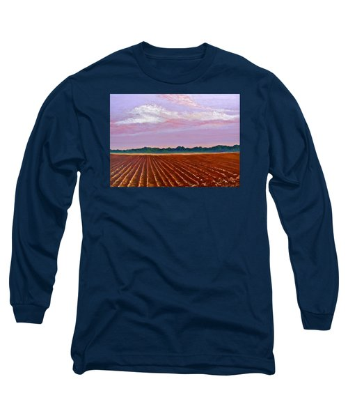 Mississippi Land And Sky Long Sleeve T-Shirt by Jeanette Jarmon