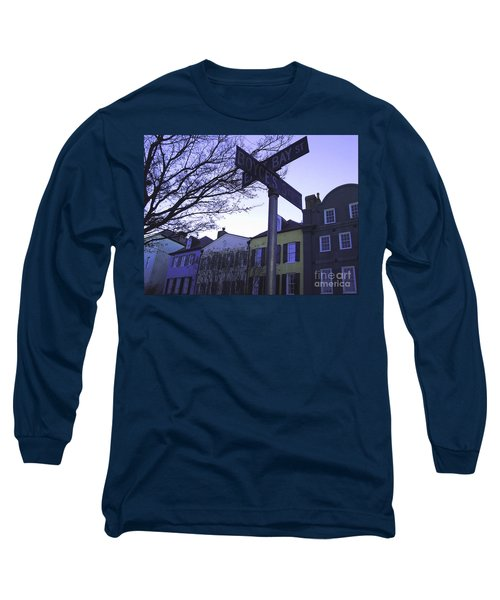 Long Sleeve T-Shirt featuring the photograph Night In Savannah by Andrea Anderegg