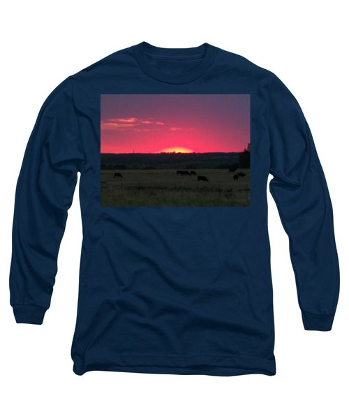 Okie Sunset Long Sleeve T-Shirt