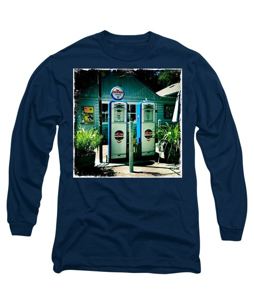 Old Fashioned Gas Station Long Sleeve T-Shirt