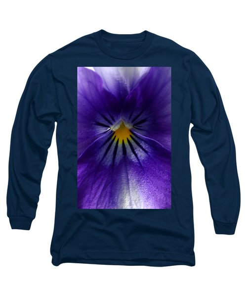 Pansy Abstract Long Sleeve T-Shirt by Lisa Phillips