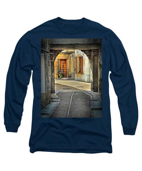Long Sleeve T-Shirt featuring the photograph Passageway And Arch In Provence by Dave Mills