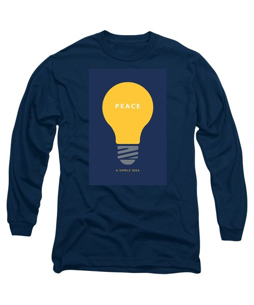 Peace A Simple Idea Long Sleeve T-Shirt