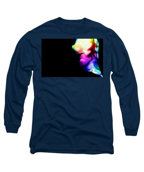 Long Sleeve T-Shirt featuring the photograph Phycadelic Leaf by Jessica Shelton