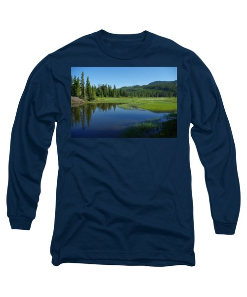 Long Sleeve T-Shirt featuring the photograph Pond Reflection by Marilyn Wilson