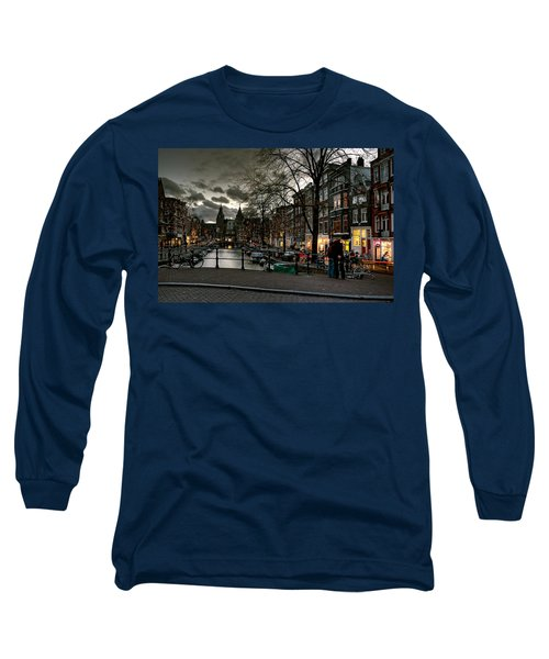 Prinsengracht And Spiegelgracht. Amsterdam Long Sleeve T-Shirt