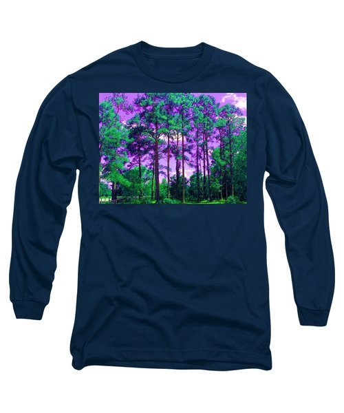 Long Sleeve T-Shirt featuring the photograph Purple Sky by George Pedro