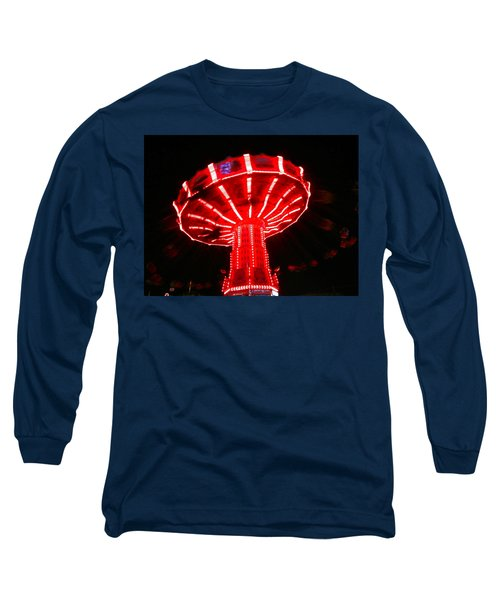 Long Sleeve T-Shirt featuring the photograph Red Ride Is Wild by Kym Backland