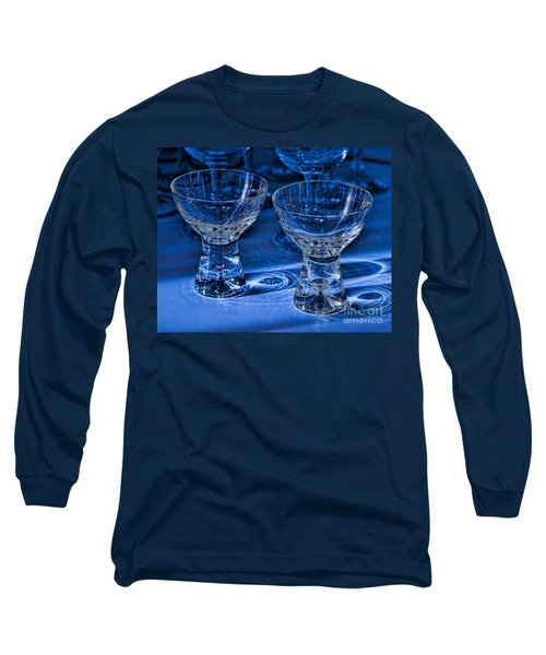 Reflections In Blue Long Sleeve T-Shirt