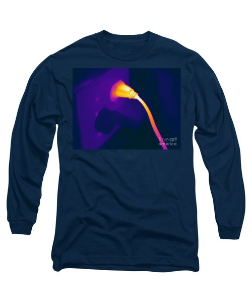 Resistive Heating Of A Wire Long Sleeve T-Shirt