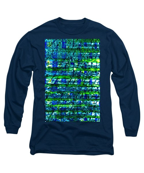 Long Sleeve T-Shirt featuring the mixed media Rice Harvest by Terence Morrissey