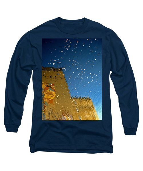 Long Sleeve T-Shirt featuring the photograph River Crossing Border Crossing by Andy Prendy