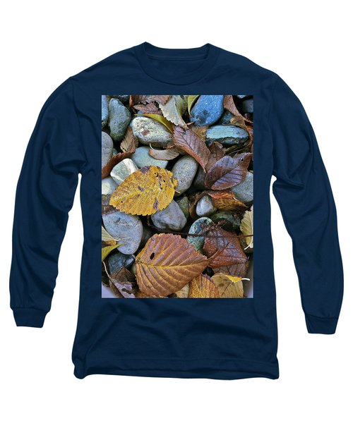 Rocks And Leaves Long Sleeve T-Shirt by Bill Owen