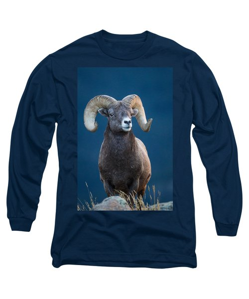 Rocky Mountain Big Horn Long Sleeve T-Shirt by Ronald Lutz