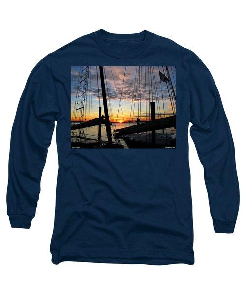 Sail At Sunset Long Sleeve T-Shirt