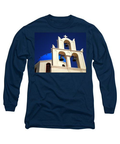 Long Sleeve T-Shirt featuring the photograph santorini Church Greee by Colette V Hera  Guggenheim