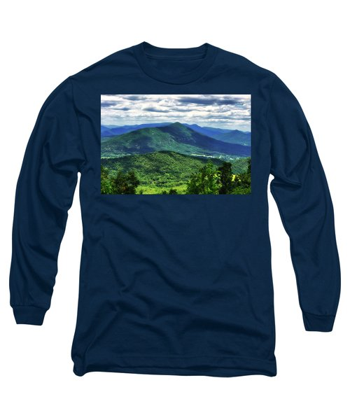 Shadows On The Mountains Long Sleeve T-Shirt