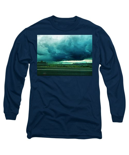 Long Sleeve T-Shirt featuring the digital art Storm Approaching  by Steve Taylor