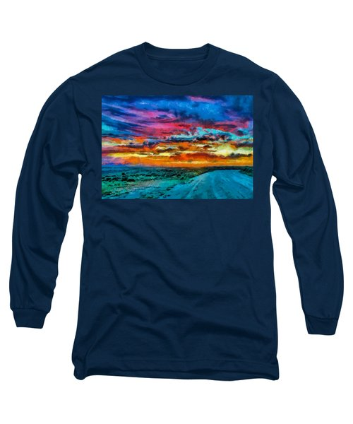 Taos Sunset Iv Wc Long Sleeve T-Shirt