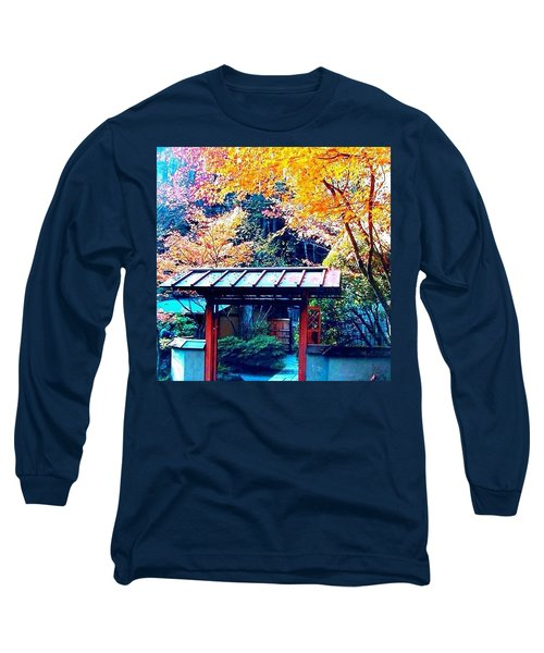 Tea House Gate In The Fall Long Sleeve T-Shirt