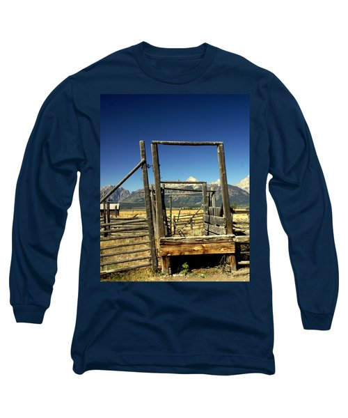 Long Sleeve T-Shirt featuring the photograph Teton Ranch by Marty Koch