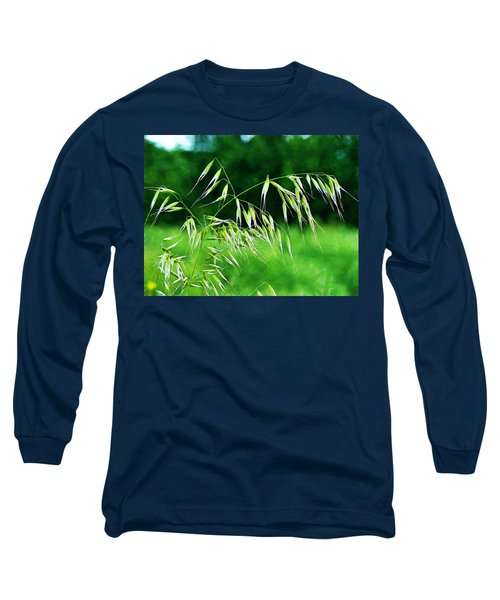 Long Sleeve T-Shirt featuring the photograph The Grass Seeds by Steve Taylor
