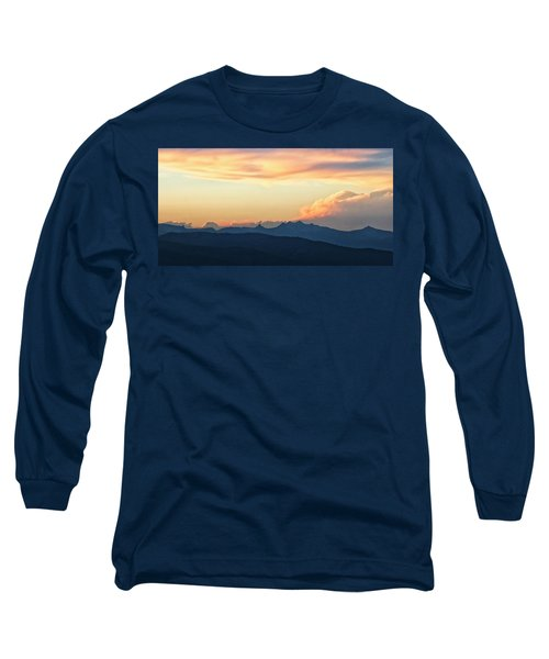 Long Sleeve T-Shirt featuring the photograph The Idaho Selkirks by Albert Seger