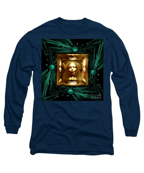 Thoughts Mirror Box Long Sleeve T-Shirt by Rosa Cobos