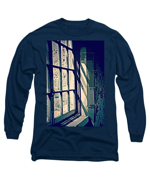 Long Sleeve T-Shirt featuring the photograph View Through The Window - Painterly Effect by Marilyn Wilson