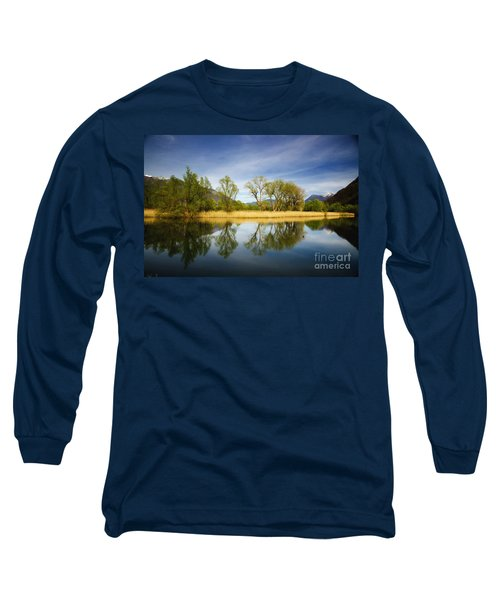 Trees Reflections On The Lake Long Sleeve T-Shirt