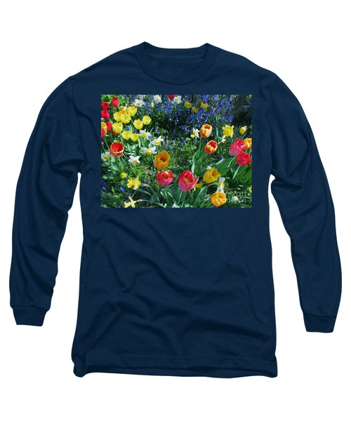 Tulips Dancing Long Sleeve T-Shirt by Rory Sagner