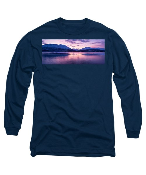 Twilight Above A Fjord In Norway With Beautifully Colors Long Sleeve T-Shirt