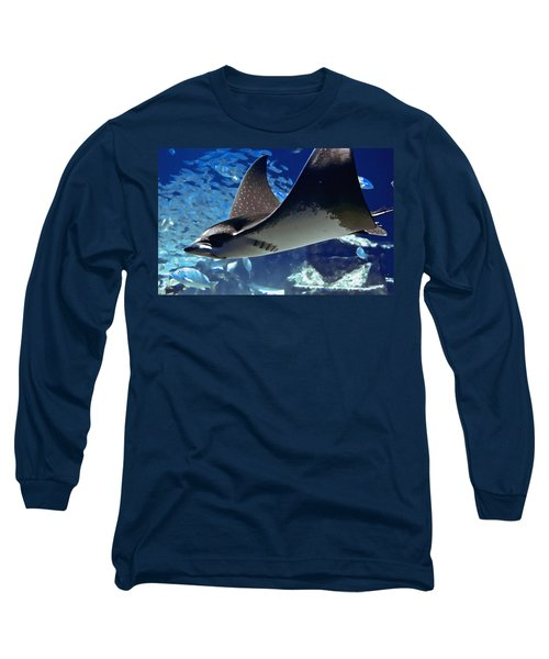 Underwater Flight Long Sleeve T-Shirt by DigiArt Diaries by Vicky B Fuller