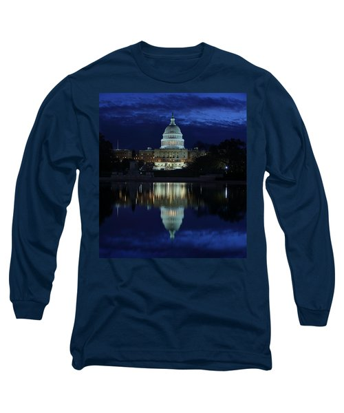 Us Capitol - Pre-dawn Getting Ready Long Sleeve T-Shirt