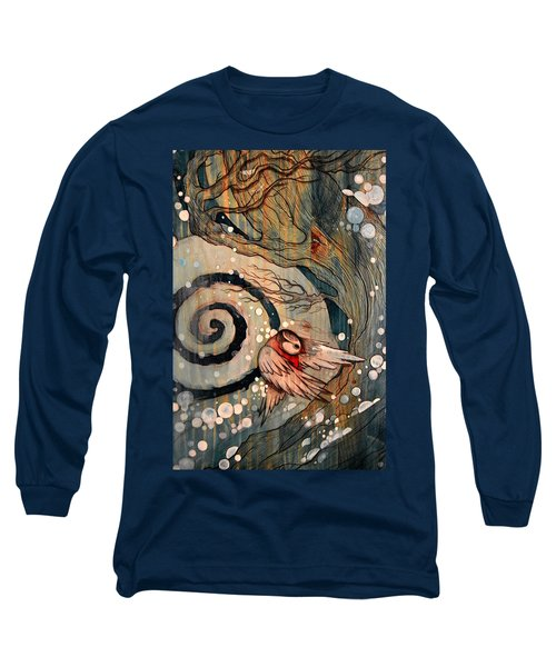 Winter Becoming Long Sleeve T-Shirt by Sandro Ramani