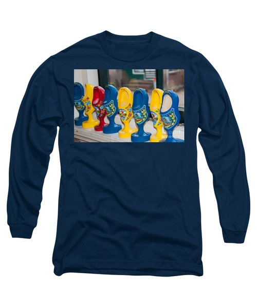 Long Sleeve T-Shirt featuring the digital art Wooden Shoes by Carol Ailles