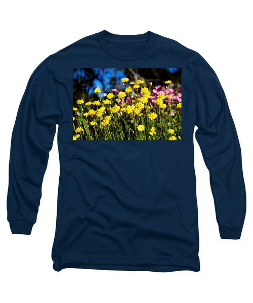 Long Sleeve T-Shirt featuring the photograph Yellow Flowers by Yew Kwang