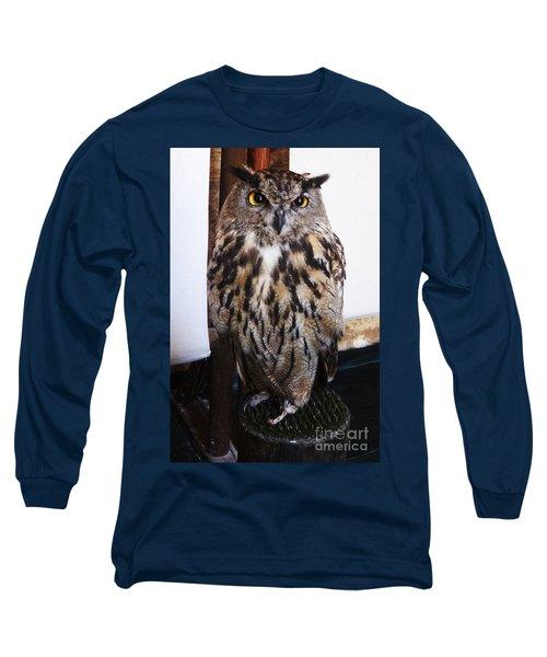 Yellow Owl Eyes Long Sleeve T-Shirt