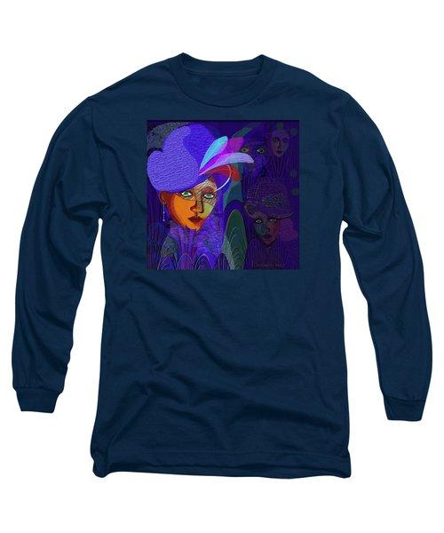 048 - Electric Blue ...  Long Sleeve T-Shirt