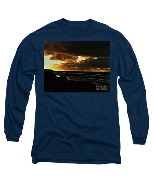 A Stormy Sunrise Long Sleeve T-Shirt by Blair Stuart