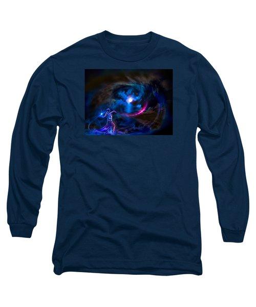Entrancing The Mystical Moon Long Sleeve T-Shirt by Glenn C Feron